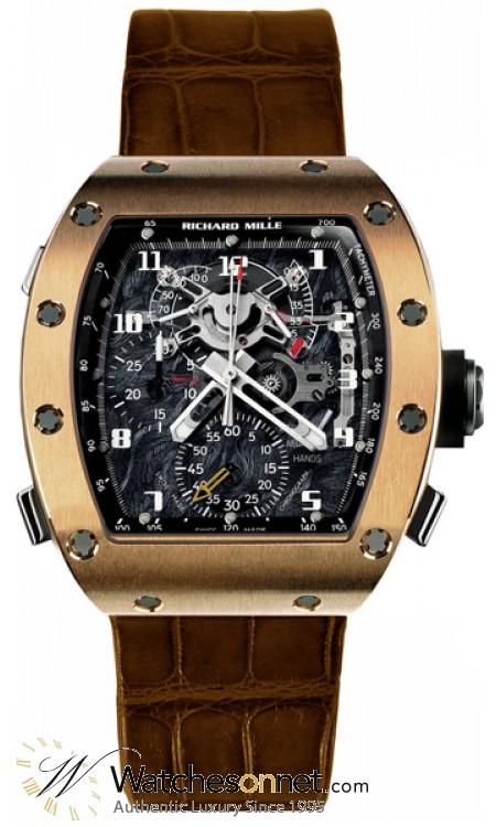Richard Mille RM 004  Chronograph Mechanical Unisex Watch, 18K Rose Gold, Skeleton Dial, RM004-V2-RG