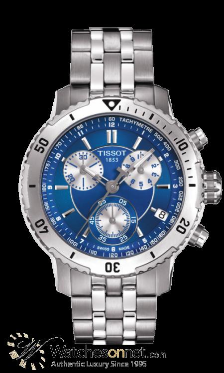 Tissot PRS200  Chronograph Quartz Men's Watch, Stainless Steel, Blue Dial, T067.417.11.041.00