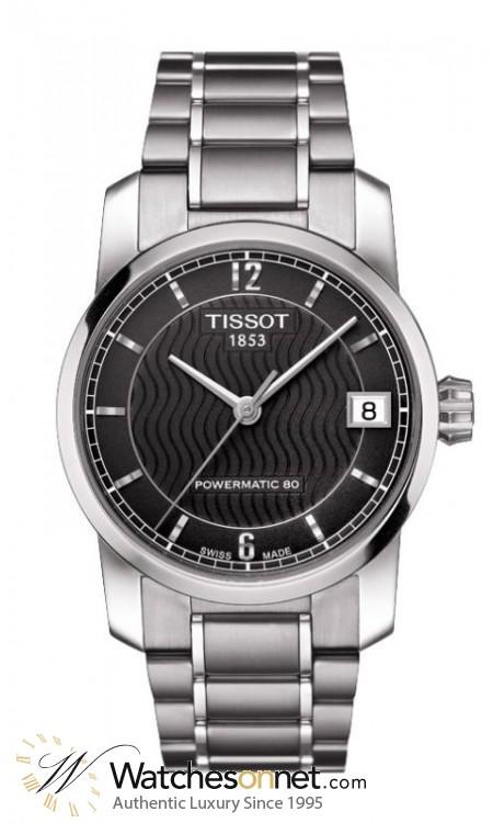 Tissot Titanium Lady  Automatic Women's Watch, Titanium, Black Dial, T087.207.44.057.00