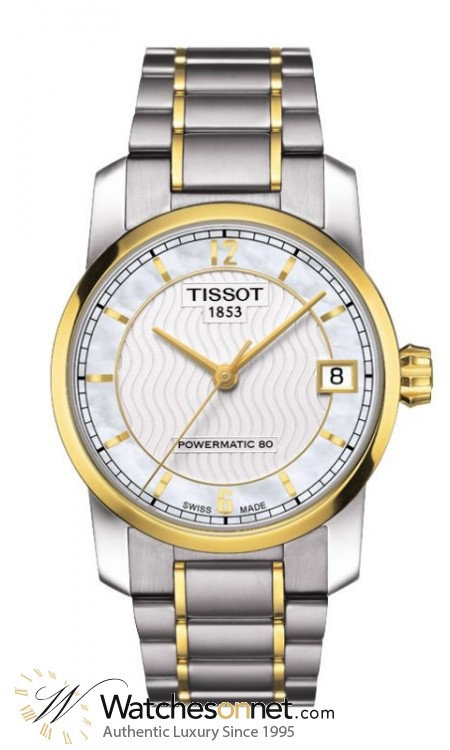 Tissot Titanium Lady  Automatic Women's Watch, Titanium, White Mother Of Pearl Dial, T087.207.55.117.00