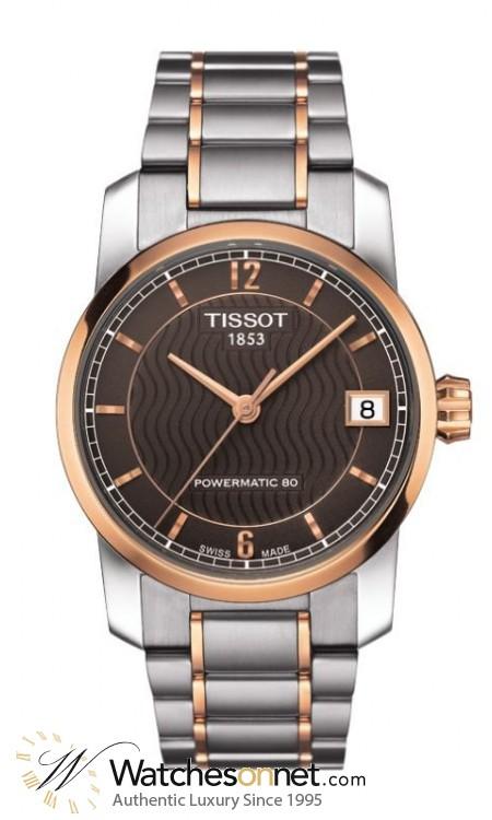 Tissot Titanium Lady  Automatic Women's Watch, Titanium, Brown Dial, T087.207.55.297.00