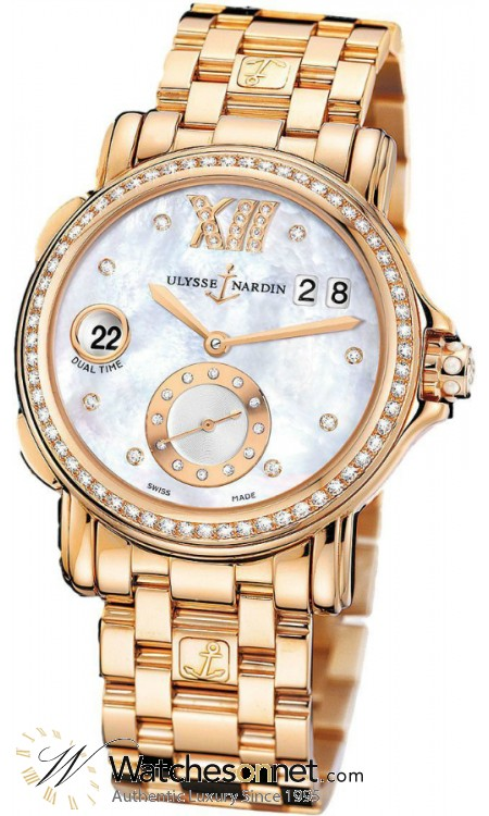 Ulysse Nardin Nifty / Functional  Automatic Women's Watch, 18K Rose Gold, Mother Of Pearl & Diamonds Dial, 246-22B-8/391