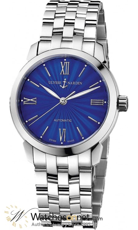 Ulysse Nardin Classical  Automatic Women's Watch, Stainless Steel, Blue Dial, 8103-116-7/E3