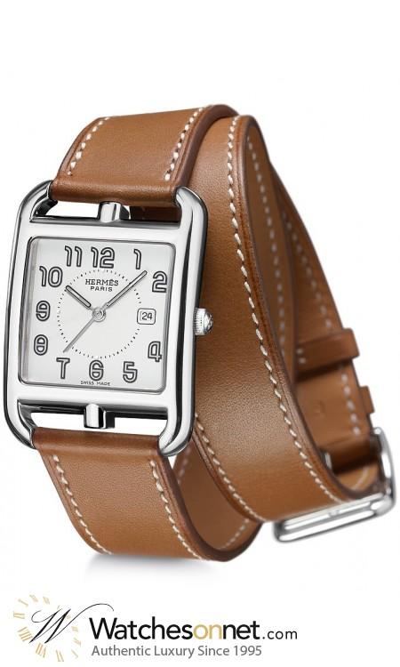 Hermes Cape Cod  Digital Women's Watch, Stainless Steel, Silver Dial, W021460WW00