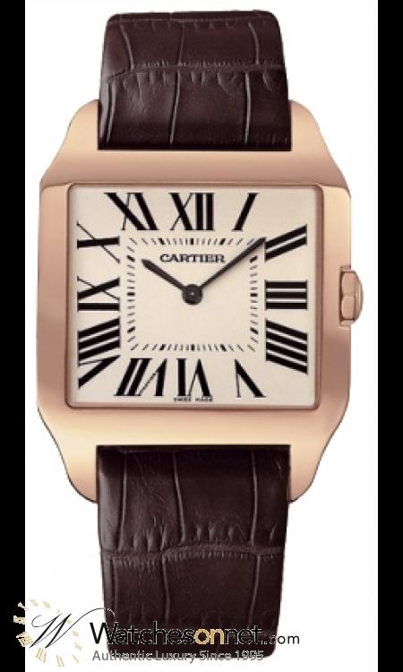 Cartier Dumont  Mechanical Men's Watch, 18K Rose Gold, Silver Dial, W2006951