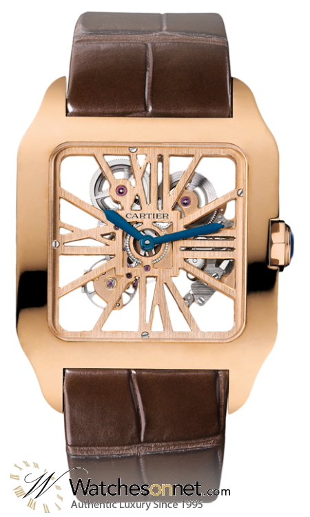 Cartier Ronde Solo  Automatic Men's Watch, 18K Rose Gold, Skeleton Dial, W2020057