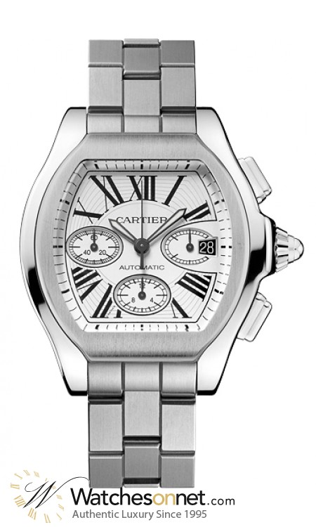 Cartier Roadster  Chronograph Automatic XL Men's Watch, Stainless Steel, Silver Dial, W6206019