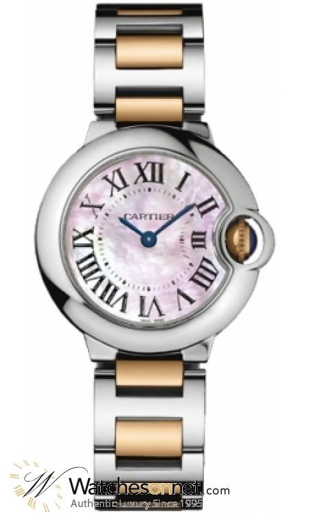 big sale b3e34 ab5c2 Cartier Ballon Bleu Quartz Women's Watch, Stainless Steel, Pink Dial,  W6920034
