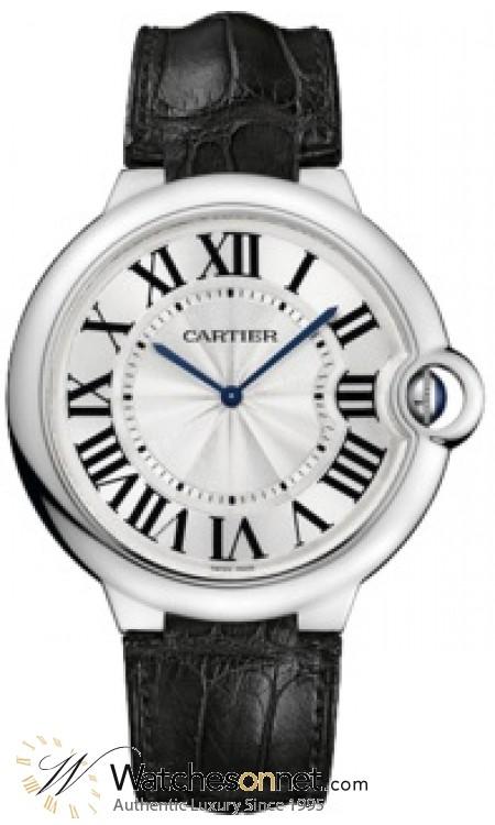 Cartier Ballon Bleu  Automatic Men's Watch, 18K White Gold, Silver Dial, W6920055