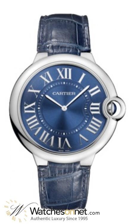 Cartier Ballon Bleu  Mechanical Men's Watch, 18K White Gold, Blue Dial, W6920059