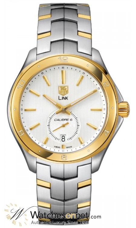 Tag Heuer Link  Automatic Men's Watch, 18K Yellow Gold, Silver Dial, WAT2150.BB0953