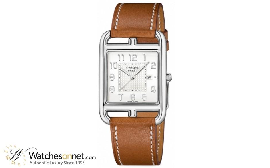 Hermes Cape Cod  Quartz Women's Watch, Stainless Steel, Silver Dial, 040183WW00