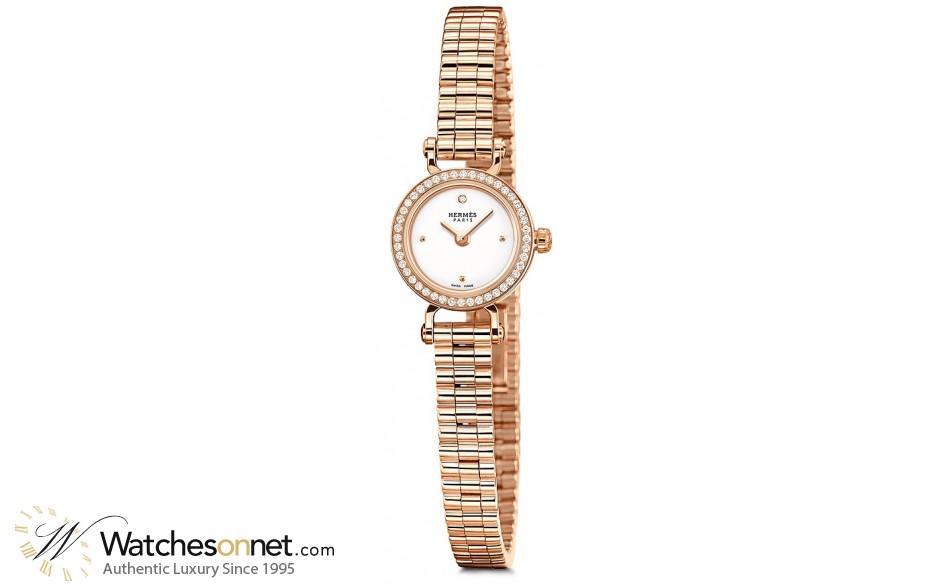 Hermes Faubourg  Quartz Women's Watch, 18K Yellow Gold, White Dial, 041416WW00