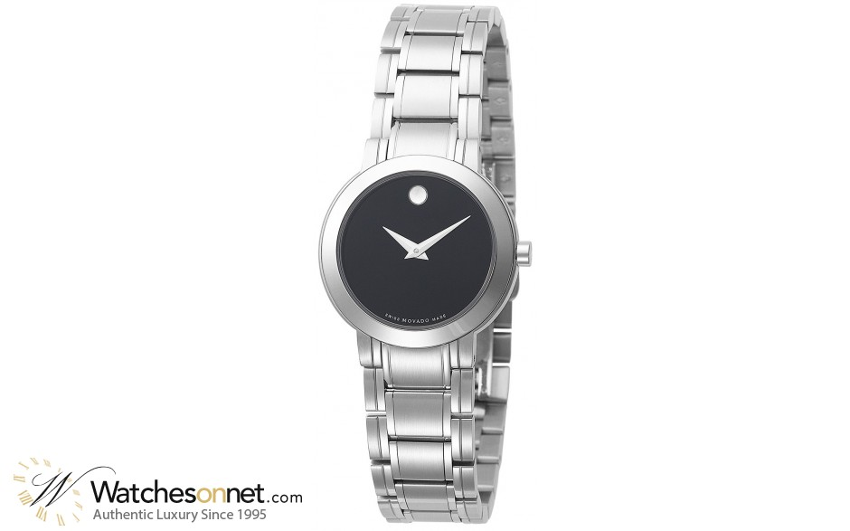 Movado Stiri  Quartz Women's Watch, Stainless Steel, Black Dial, 606192