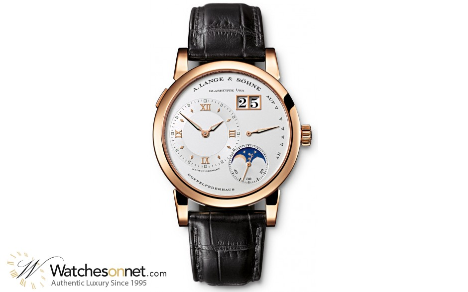 A. Lange & Sohne Lange 1  Manual Winding Men's Watch, 18K Rose Gold, Silver Dial, 109.032