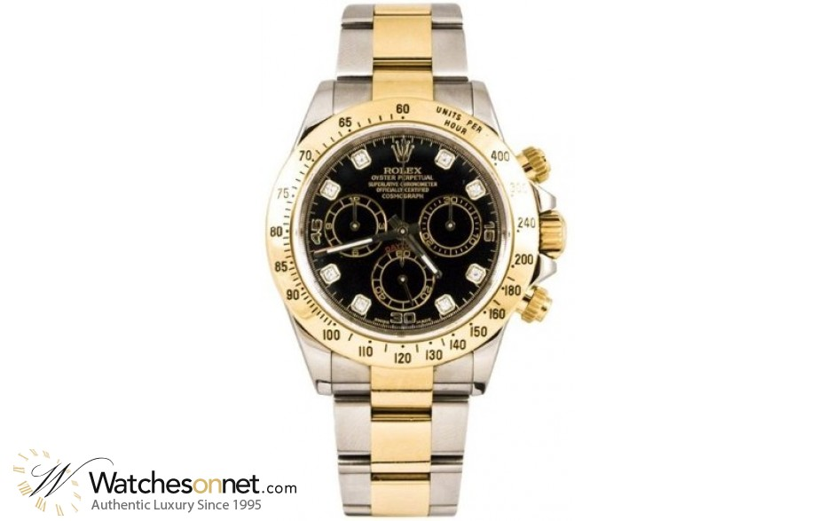 Rolex Cosmograph Daytona  Chronograph Automatic Men's Watch, Steel & 18K Yellow Gold, Black Dial, 116523-BLK-DIA
