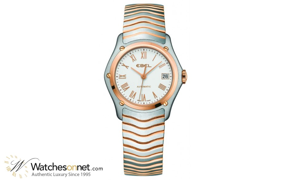 Ebel Classic Lady  Automatic Women's Watch, Stainless Steel, White Dial, 1215926