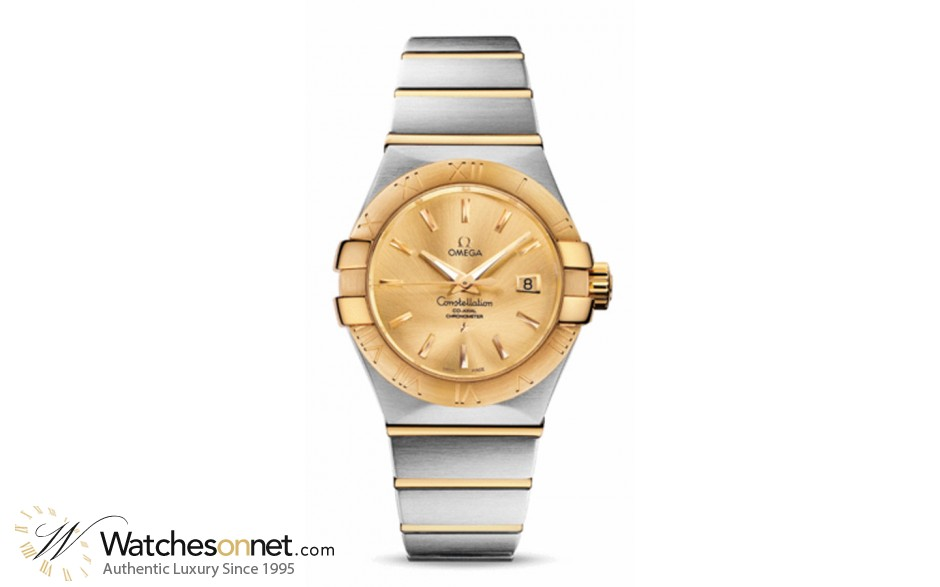 Omega Constellation  Automatic Women's Watch, 18K Yellow Gold, Champagne Dial, 123.20.31.20.08.001