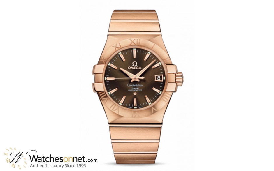 Omega Constellation  Automatic Men's Watch, 18K Rose Gold, Brown Dial, 123.50.35.20.13.001