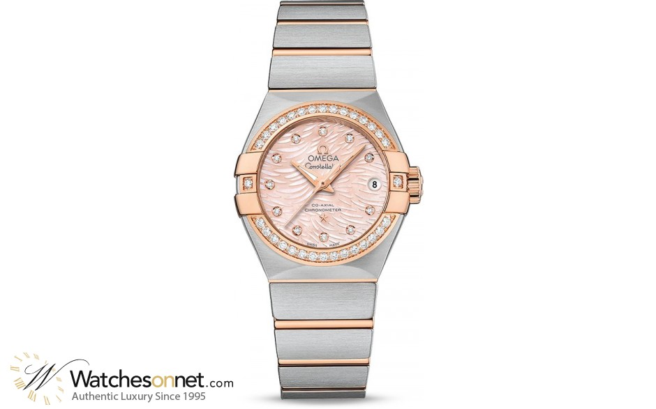 Omega Constellation  Automatic Women's Watch, Steel & 18K Rose Gold, Pink Dial, 123.25.27.20.57.004
