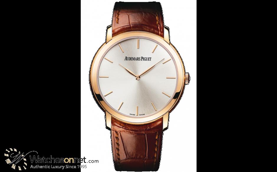Audemars Piguet Jules Audemars  Automatic Men's Watch, 18K Rose Gold, Silver Dial, 15180OR.OO.A088CR.01