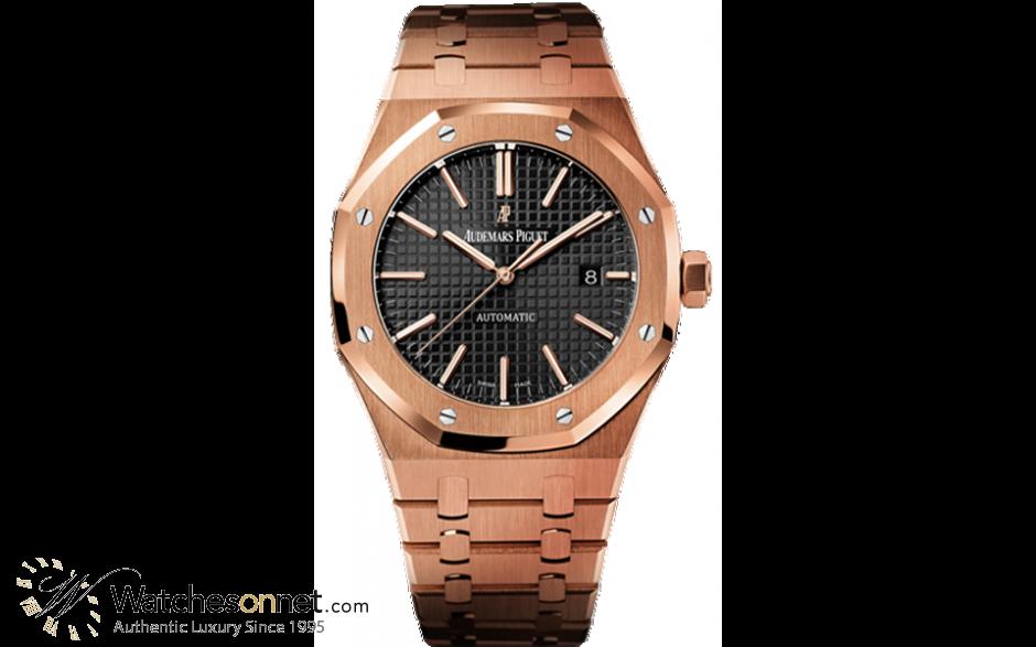 Audemars Piguet Royal Oak  Automatic Men's Watch, 18K Rose Gold, Black Dial, 15400OR.OO.1220OR.01