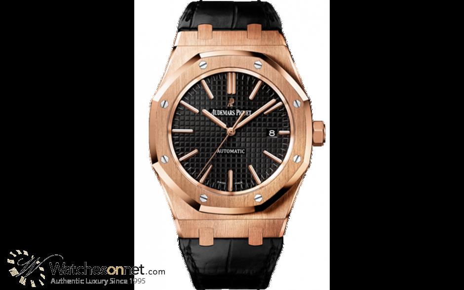 Audemars Piguet Royal Oak  Automatic Men's Watch, 18K Rose Gold, Black Dial, 15400OR.OO.D002CR.01