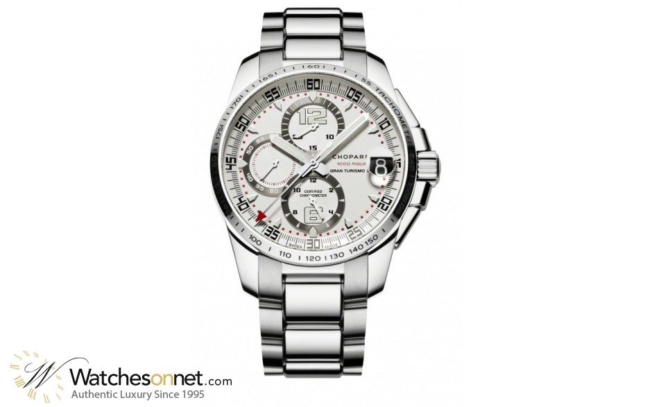 Chopard Classic Racing  Chronograph Automatic Men's Watch, Stainless Steel, Silver Dial, 158459-3002