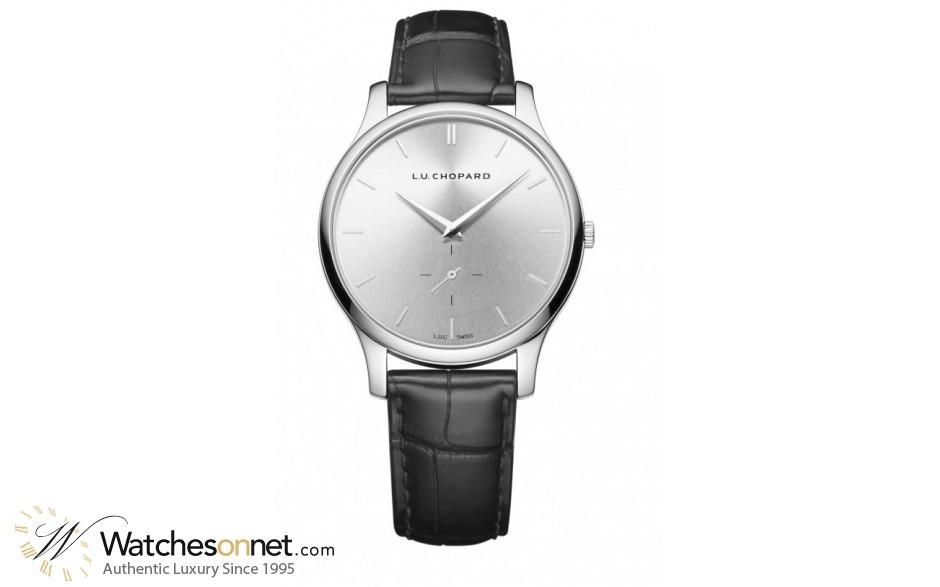 Chopard L.U.C  Automatic Men's Watch, 18K White Gold, Silver Dial, 161920-1004