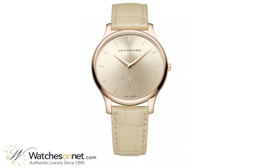 Chopard L.U.C  Automatic Men's Watch, 18K Rose Gold, Champagne Dial, 161920-5005