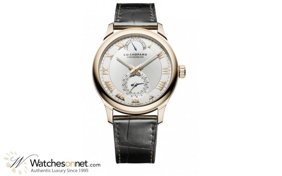Chopard L.U.C  Automatic Men's Watch, 18K Rose Gold, Silver Dial, 161926-5001