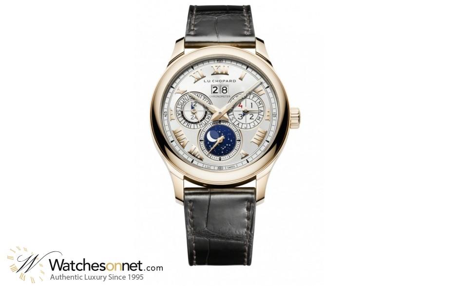 Chopard L.U.C  Automatic Men's Watch, 18K Rose Gold, Silver Dial, 161927-5001