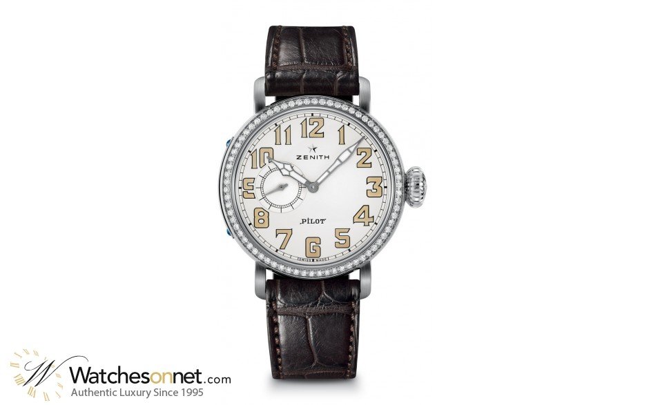 Zenith Pilot  Automatic Women's Watch, Stainless Steel, Silver Dial, 16.1930.681/31.C725