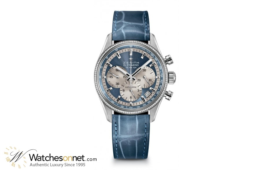 Zenith El Primero  Chronograph Automatic Women's Watch, Stainless Steel, Blue Dial, 16.2150.400/51.C705