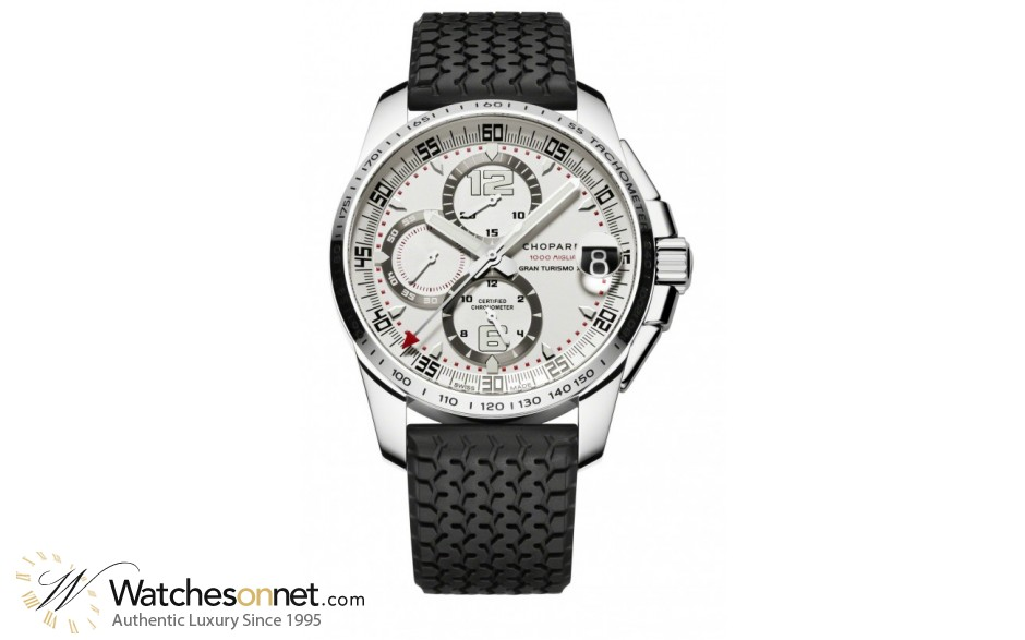 Chopard Classic Racing  Chronograph Automatic Men's Watch, Stainless Steel, Silver Dial, 168459-3015