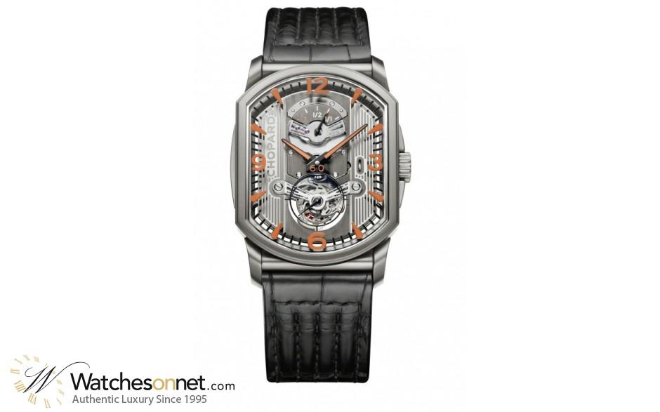 Chopard L.U.C  Mechanical Men's Watch, Titanium, Silver Dial, 168526-3003