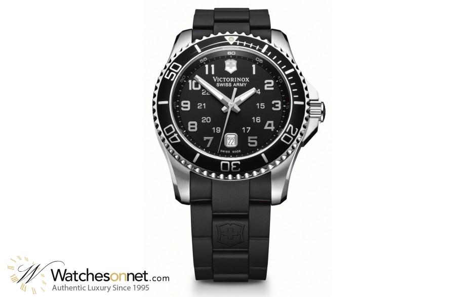 Victorinox Swiss Army Maverick GS  Quartz Men's Watch, Stainless Steel, Black Dial, 241435