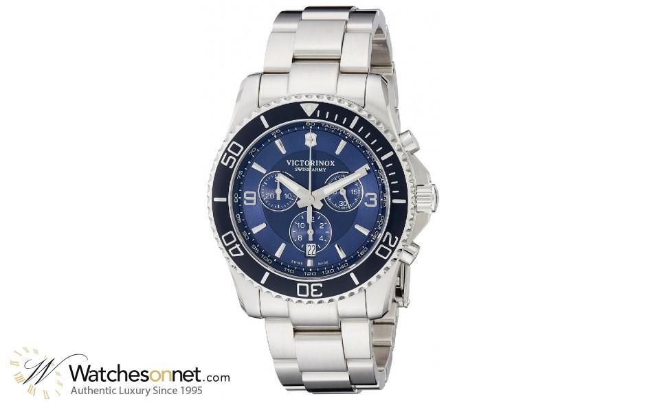 Victorinox Swiss Army Maverick  Quartz Men's Watch, Stainless Steel, Blue Dial, 241689