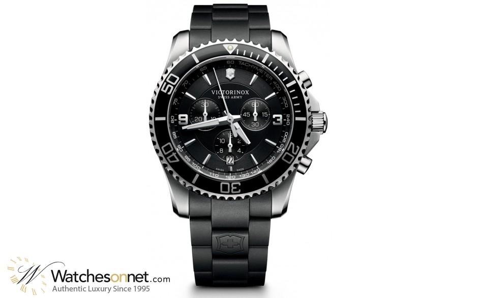 Victorinox Swiss Army Maverick  Quartz Men's Watch, Stainless Steel, Black Dial, 241696