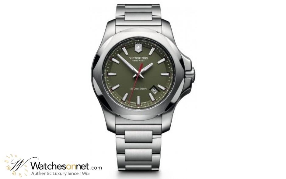 Victorinox Swiss Army I.N.O.X  Quartz Men's Watch, Stainless Steel, Green Dial, 241725.1