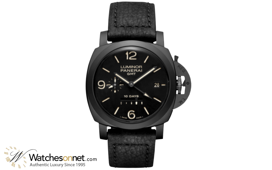 Panerai Luminor 1950  Automatic Certified Men's Watch, Ceramic, Black Dial, PAM00335