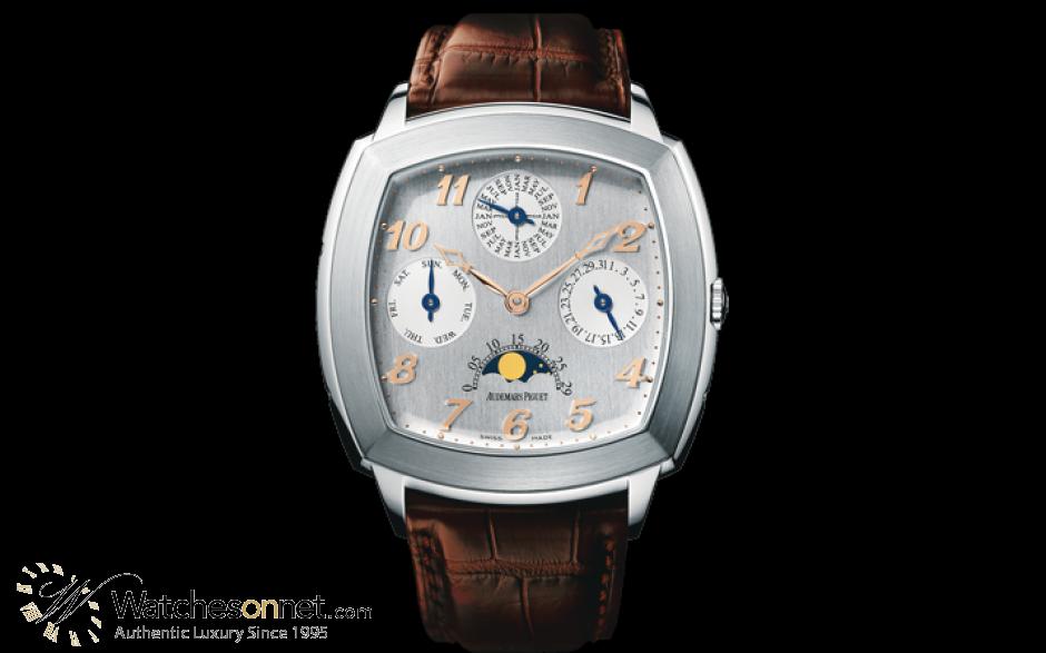 Audemars Piguet Tradition  Perpetual Calendar Men's Watch, Platinum, Silver Dial, 26051PT.OO.D092CR.01