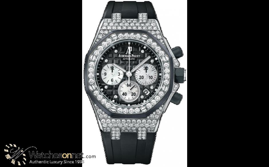 Audemars Piguet Royal Oak Offshore  Chronograph Automatic Women's Watch, 18K White Gold, Black Dial, 26092CK.ZZ.D002CA.01
