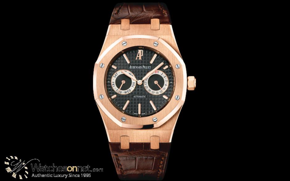 Audemars Piguet Royal Oak  Automatic Men's Watch, 18K Rose Gold, Black Dial, 26330OR.OO.D088CR.01