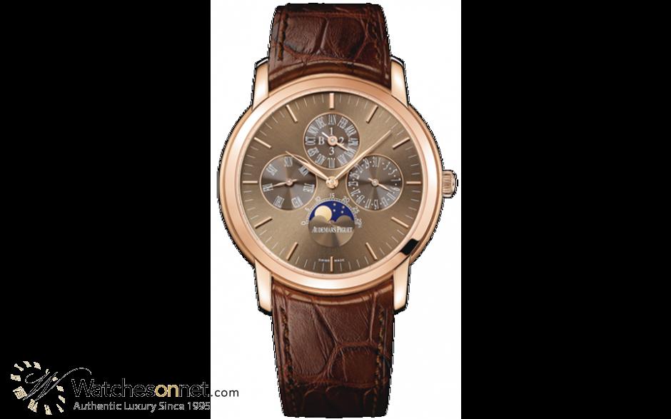 Audemars Piguet Jules Audemars  Perpetual Calendar Men's Watch, 18K Rose Gold, Brown Dial, 26390OR.OO.D093CR.01