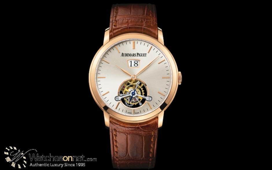 Audemars Piguet Jules Audemars  Tourbillon Men's Watch, 18K Rose Gold, Silver Dial, 26559OR.OO.D088CR.01