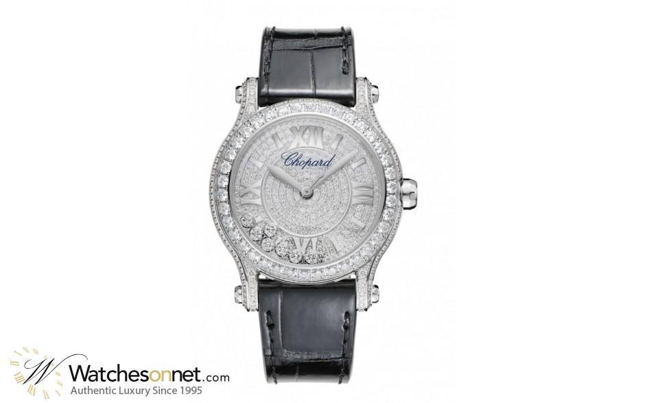 Chopard Happy Diamonds  Automatic Women's Watch, 18K White Gold, Diamond Pave Dial, 274891-1001