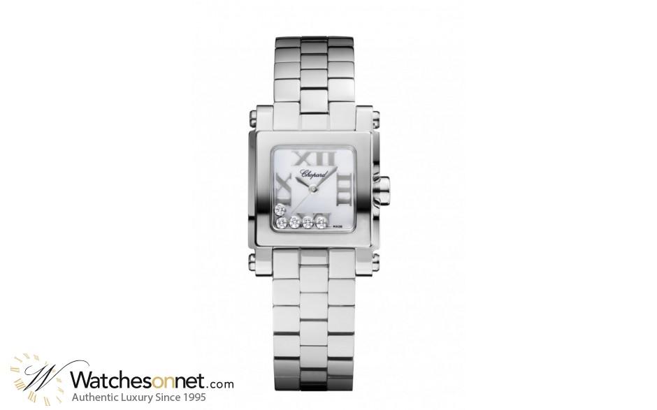Chopard Happy Diamonds  Quartz Women's Watch, Stainless Steel, White Dial, 278516-3002