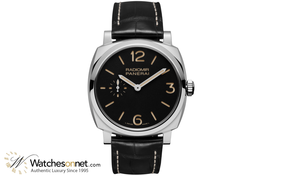 Panerai Radiomir 1940  Mechanical Men's Watch, Stainless Steel, Black Dial, PAM00512