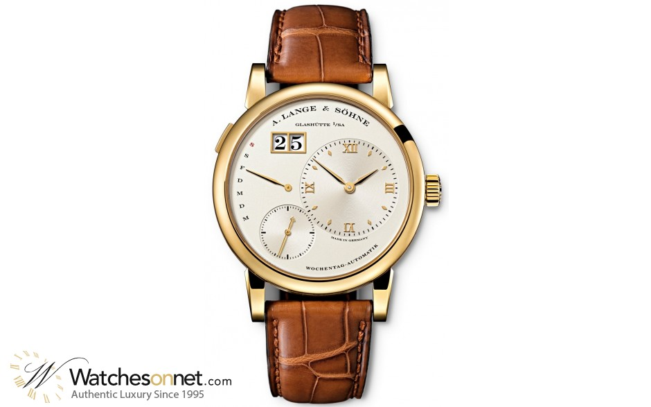 A. Lange & Sohne Lange 1  Automatic Men's Watch, 18K Yellow Gold, Silver Dial, 320.021